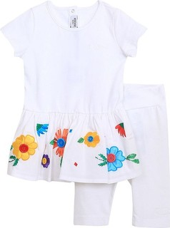 Moschino White Set 2pcs Casual Dress And Leggings