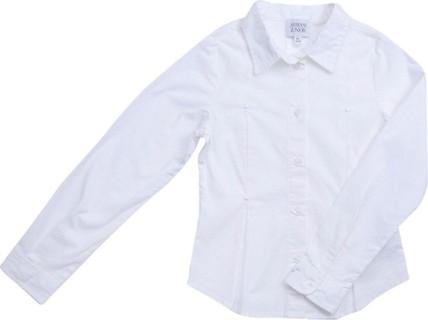 Armani Junior White Poplin Shirt With Front Pleats
