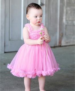 RuffleButts Pink Princess Petti Dress