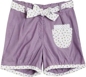 Poupette la plage Purple Tatum Shorts With Grape Print Belt