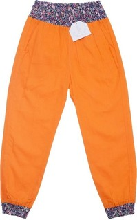 Poupette la plage Orange Flower Print Beach Trousers