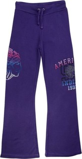 Flowers By Zoe Purple Printed Flared Tracksuit Trousers
