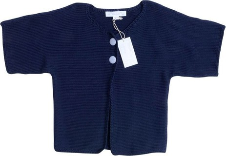 Chateau de Sable Navy Blue Knitted Half Sleeve Cardigan