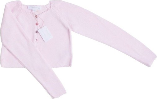 Chateau de Sable Pale Pink Cropped Cardigan