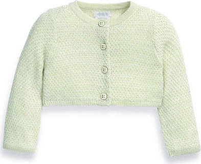 Sparkle Knit Cropped Cardigan Gold- 0-3