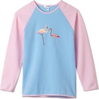 Stella Cove Light Blue Flamingo Rash Guard