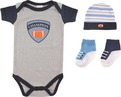Luvable Friends Rebel Baby Gift Set 4pc - Football