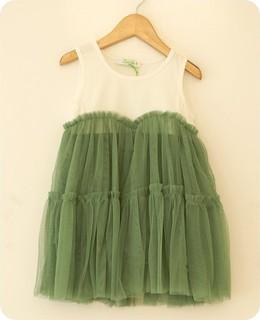 Lemondrop - Organza Baby Shower Dress - Green