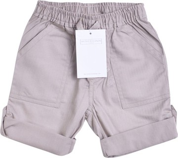 The Little White Company Beige Turn-Up Shorts With Front & Back Pockets