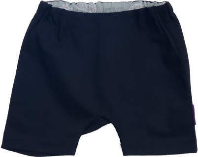 Bornsage Black Twill Shorts With Mint-Ash Detail