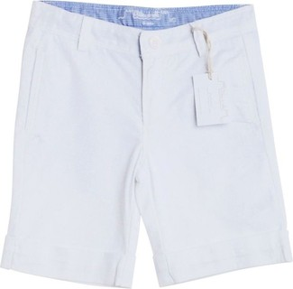 Chateau de Sable White Turn-Up Shorts