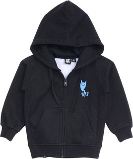 Alphabet Soup Black Spooky Hill Zip Up Hooded Jumper