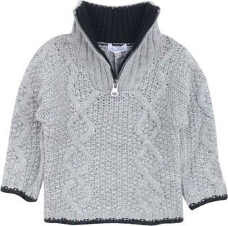 Absorba Grey Knitted Turtle Neck Jumper
