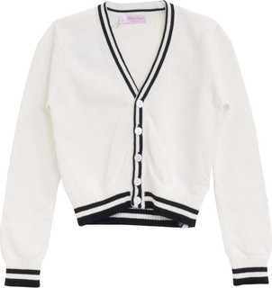 Lovely Lace Baby White & Black Cardigan