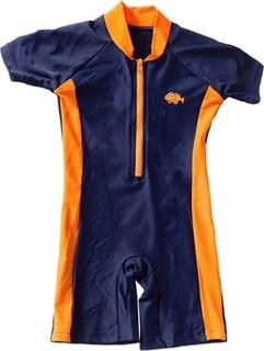 Big Fisch Boy's One Piece Sun Suit, Orange