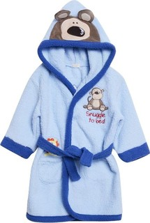 Bambini Blue Hooded Monkey Dressing Gown