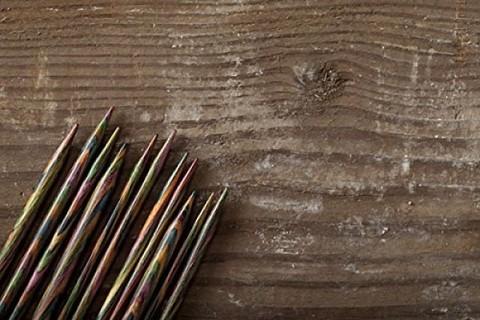 Knit Picks Rainbow Wood Straight 14 Inch Knitting Needle Set