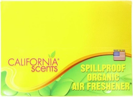 California Scents 1.5 Ounce Spillproof Organic Air-Freshener 12-Unit Counter Display Assorted