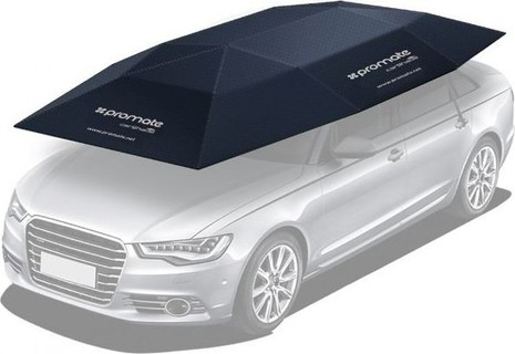 Car Cover, Automatic Folded Umbrella Shelter with Remote Control, Portable Auto Protection Car Hood, Promate CarShade