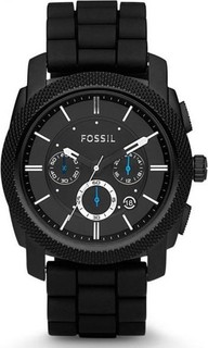 Fossil Machine Watch for Men - Analog Silicone Band - FS4487