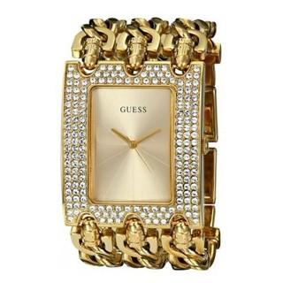 GUESS Women's U0085L1 Rocker Glitz Multi-Chain Gold-Tone Bracelet Watch