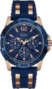 Guess MEN'S Watch Blue Silicone Strap W0366G4