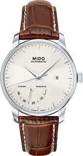 Mido Brown Leather Silver dial Watch for Men's M8605.4.11.8