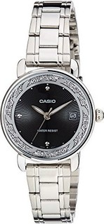 Casio Enticer Analog Black Dial Womens Watch LTP-E120D-1ADF