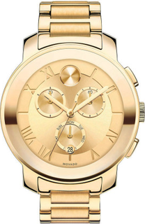 MOVADO – Bold Champagne Dial Gold Ion-plated Watch for Women MV3600209