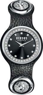 Versus By Versace Leather Women's Watch Black - SCG150016