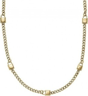 Michael Kors Women's MK Padlock Stations Gold-Tone Chain Necklace MKJ3723710