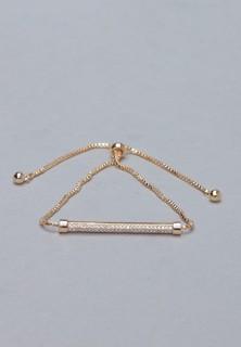 TWINZIES Women Clear Bar Slide Bracelet