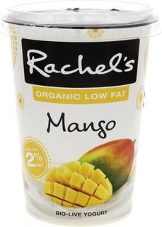 Rachel's Organic Low Fat Mango Bio Live Yogurt 450 Gm