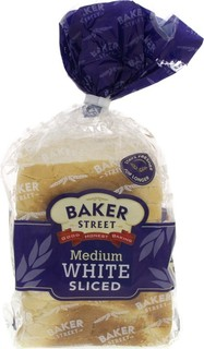 Baker Street Medium White Sliced Bread 550 Gm