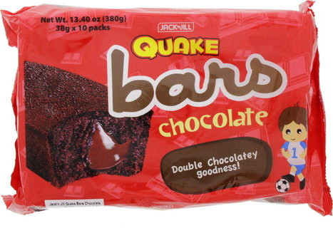 Jack N Jill Jack And Jill Quake Bars Chocolate 38 Gm X 10