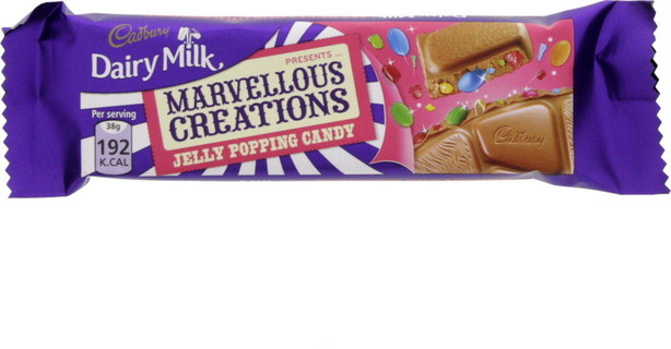 Cadburys Cadbury Dairy Milk Marvelous Creations Jelly Popping Candy 38 Gm