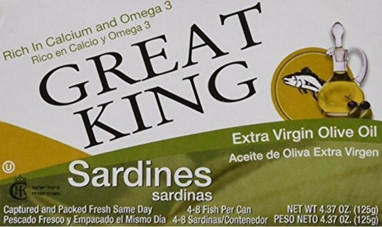 Selina Naturally Great King Sardines in Extra Virgin Olive Oil, 4.37 Ounce (Pack of 24)
