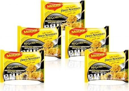 Maggi Mi-Goreng Fried Noodles, 5 x 77g