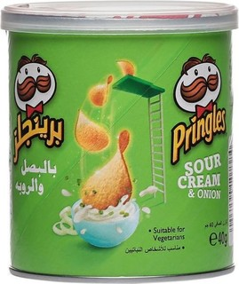Pringles Sour Cream & Onion Flavored Chips - 40g