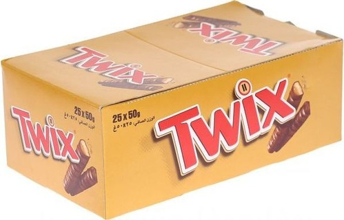 Twix Chocolate Bars - Box of 25 Pieces (25 x 50g)