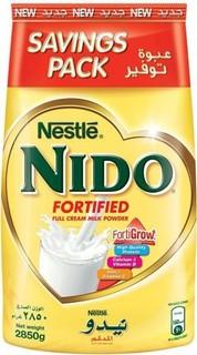 NIDO Full Cream Milk Powder Pouch, 2.85kg