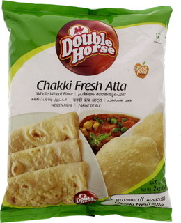 Double Horse Chakki Fresh Atta Whole Wheat Flour 2 Kg