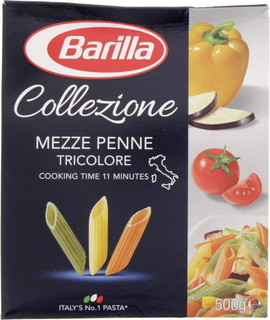 Barilla Mezze Penne Tricolore 500 Gm