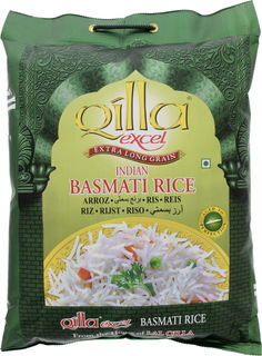 Qilla Excel Extra Long Grain Indian Basmati Rice 5 Kg