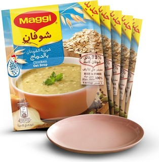 Maggi Chicken Oat Soup 5 X 65 Gm + Saucer