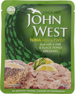 John West Tuna With A Lime & Black Pepper Dressing 85 Gm