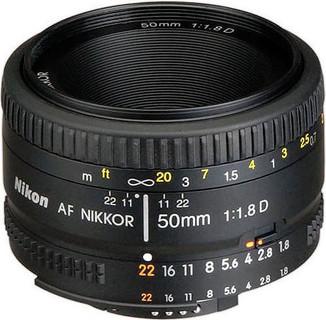 Nikon Nikor Lens AF Nikkor 50mm f 1.8D for Nikon DSLR Camera