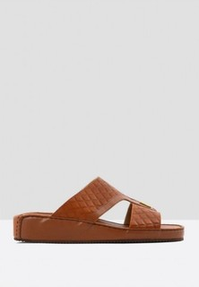 ChicShoes Leather Arabic Sandals - Brown