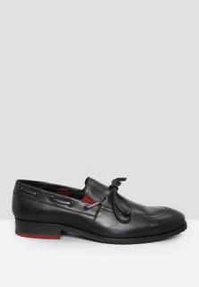 Toni Rossi Bowed Leather Formal Slip Ons - Black
