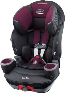 Evenflo SafeMax 3 In 1 Booster Car Seat Purple Berry